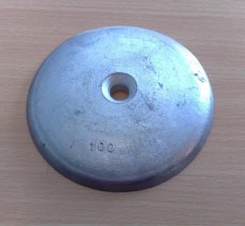 Telleranode Aluminium 100mm mit 11mm Loch für M10 Schrauben